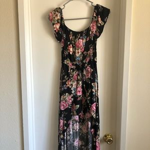 Dresses & Skirts - High low romper dress floral print size small